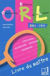 Observation réflechie de la langue CM1-CM2 ; livre du maître - Couverture - Format classique