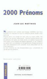 2000 prenoms - 4ème de couverture - Format classique