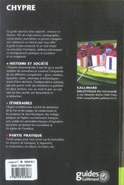 Chypre - 4ème de couverture - Format classique