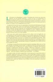 Acces De Tous A La Connaissance, Preservation Du Cadre De Vie, Amelioration De La Sante : Trois Enje - 4ème de couverture - Format classique