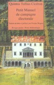 Petit manuel de campagne électorale - Intérieur - Format classique