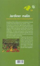 Jardiner malin - 4ème de couverture - Format classique