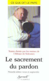 Le sacrement du pardon, numero 10 - Couverture - Format classique