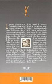 Chez zola a medan - 4ème de couverture - Format classique