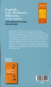 Poubelle, Colt, Béchamel, Silhouette et les autres ; l'histoire étonnante de 101 noms proprement communs - 4ème de couverture - Format classique