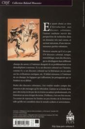 Introduction Aux Discours Coloniaux - 4ème de couverture - Format classique
