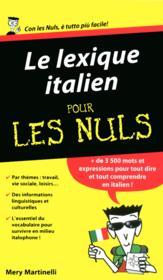 Le lexique italien pour les nuls - Couverture - Format classique