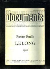 Documents N° 5. Pierre Emile Lelong 1908. - Couverture - Format classique