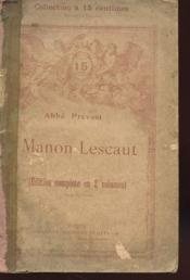Manon Lescaut - Edition Complete En Deux Volumes - Volume 3 - Couverture - Format classique