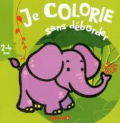 Je colorie sans déborder ; animaux sauvages ; 2-4 ans - Couverture - Format classique