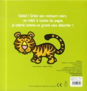 Je colorie sans déborder ; animaux sauvages ; 2-4 ans - 4ème de couverture - Format classique