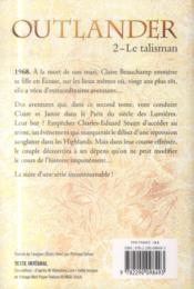 Outlander t.2 ; le talisman - 4ème de couverture - Format classique