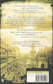 Sacred Games - 4ème de couverture - Format classique
