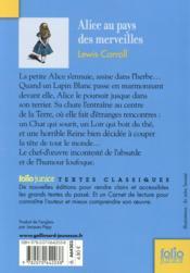 Alice au pays des merveilles - 4ème de couverture - Format classique