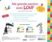 Loup ; livre-ardoise GS - 4ème de couverture - Format classique