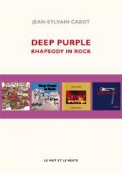 Deep Purple, rhapsody in rock - Couverture - Format classique
