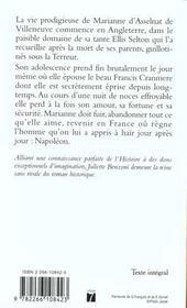 Marianne t.1 ; une étoile pour Napoléon - 4ème de couverture - Format classique