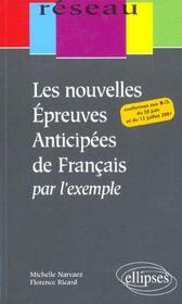 Les Nouvelles Epreuves Anticipees De Francais Par L'Exemple - Intérieur - Format classique