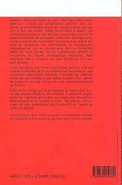 Sartre et l'authenticite - 4ème de couverture - Format classique