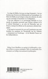 Le singe de Kafka ; et autres propos sur la colonie - 4ème de couverture - Format classique