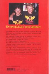 En Backstage Avec Johnny - 4ème de couverture - Format classique