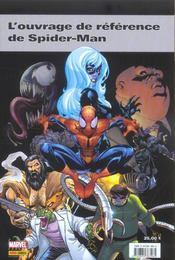 ENCYCLOPEDIE MARVEL T.2 ; encyclopedie marvel t.2 ; spider-man - 4ème de couverture - Format classique