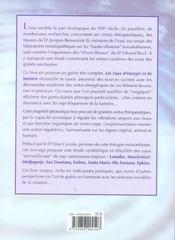Les Eaux D'Energie Et De Lumiere - 4ème de couverture - Format classique