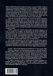 Paul-Frederic Rollet,Pere De La Legion Etrangere - 4ème de couverture - Format classique