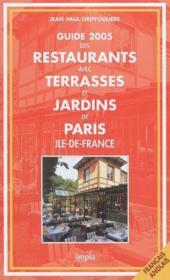 Guide Terrasses Et Jardins De Paris Ile De France - Couverture - Format classique