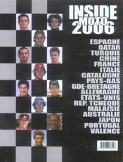 Inside moto (edition 2006) - 4ème de couverture - Format classique