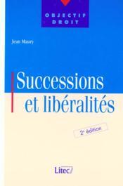 Maury successions et liberalites - Couverture - Format classique
