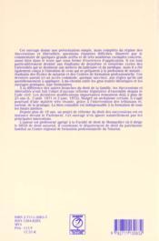 Maury successions et liberalites - 4ème de couverture - Format classique