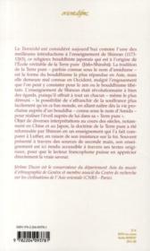 Le tannisho ; le bouddhisme de la terre pure selon Shinran et ses prédécesseurs - 4ème de couverture - Format classique