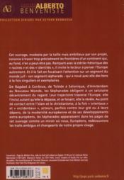 Sepharades et l europe - 4ème de couverture - Format classique