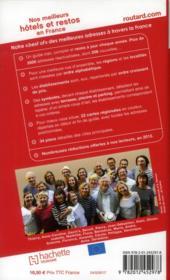 Guide Du Routard ; Nos Meilleurs Hôtels Et Restos En France (Edition 2012) - 4ème de couverture - Format classique