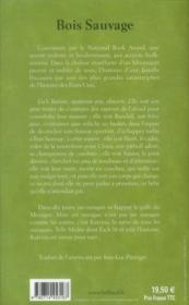 Bois sauvage - 4ème de couverture - Format classique