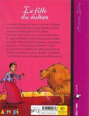 Princesse Zelina t.3 ; la fille du sultan - 4ème de couverture - Format classique