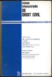 REVUE TRIMESTRIELLE DE DROIT CIVIL * VENTE À L'ANNÉE ET AU NUMÉRO * 1968; 1971 (mq. n° 1); 1972 (mq. table); 1973 (mq. n° 1 à 4); 1974 (mq. n° 1); 1976 (mq. n° 1, 3, 4 et table); 1985; 1994 (mq. n° 2 et 3); 1996 (mq. n° 2, 3 et 4) - Couverture - Format classique