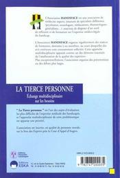 La Tierce Personne - 4ème de couverture - Format classique