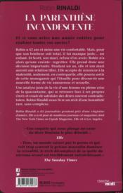 La parenthèse incandescente - 4ème de couverture - Format classique