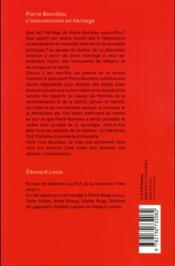 Pierre Bourdieu, l'insoumission en héritage - 4ème de couverture - Format classique