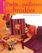 Perles Et Paillettes Brodees - Couverture - Format classique