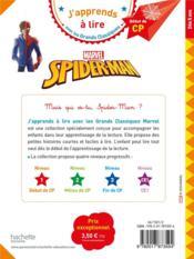 Spider-Man - 4ème de couverture - Format classique
