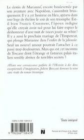 Marianne t.2 ; l'inconnu de Toscane - 4ème de couverture - Format classique