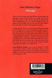 Meshugah - 4ème de couverture - Format classique