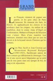 Le Bal Du Comte D'Orgel - 4ème de couverture - Format classique