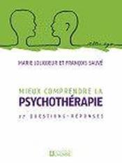 Mieux comprendre la spychothérapie ; 27 questions réponses - Couverture - Format classique