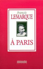 À Paris - Couverture - Format classique