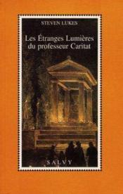 Les Etranges Lumieres Du Professeur Caritat - Couverture - Format classique