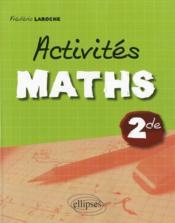 Activités maths 2de - Couverture - Format classique